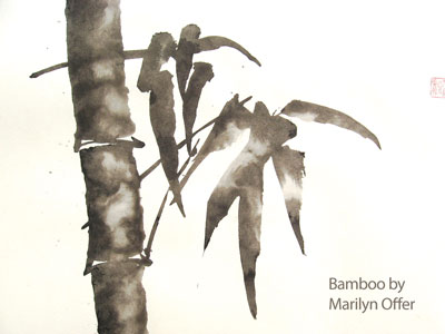 Bamboo by Marilyn Offer Sumi-e