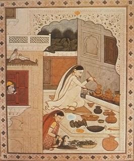 Depiction of Kangra Cooking