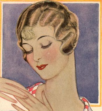 Art Deco Beauty Salon Advertisement