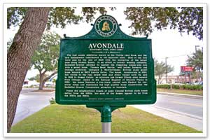 Avondale Neighborhood Plaque