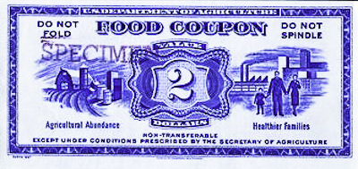 Antique Food Coupon